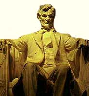 The sculpture of Abraham Lincoln