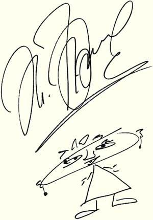 Автограф Жанны Фриске