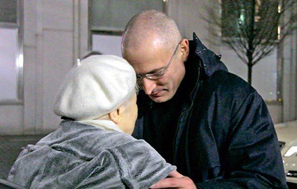 Встреча Ходорковского с мамой, после тюрьмы