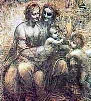 Картина Святая Анна с Марией, младенцем Христом и Иоанном Крестителем