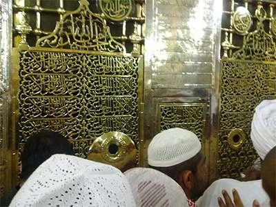 Могила в Мечети Пророка Мухаммеда (в Медине)