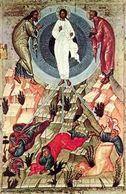 ������������ �������� - ����� (Transfiguration of the Lord - the icon)
