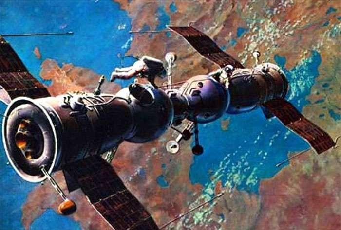 Стыковка над Землей двух пилотируемых кораблей Союз-4 и Союз-5