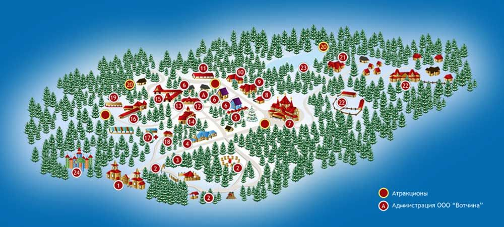 Вотчина, резиденция Деда Мороза в Великом Устюге