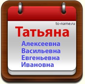 Татьяна владимировна значение имени характер